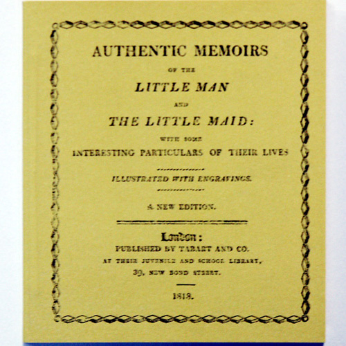 AUTHENTIC MEMOIRS OF THE LITTLE MAN AND THE LITTLE MAID