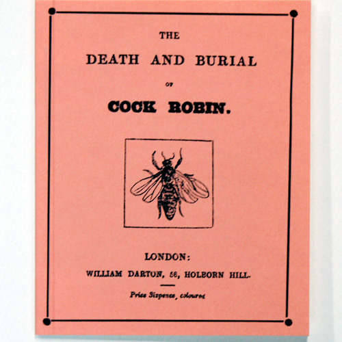 THE DEATH AND BURIAL OF COCK ROBIN(1993년 복간본(1806년 초판)) 챕북