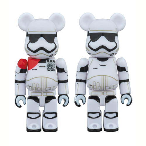 BE@RBRICK 100% STAR WARS 2 PACK FIRST ORDER STORMTROOPER(TM) OFFICER & FIRST ORDER STORMTROOPER(TM)