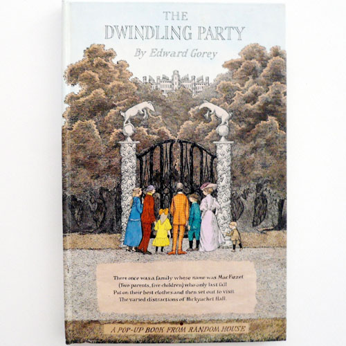 The Dwindling Party by Edward Gorey(1982년 초판본)
