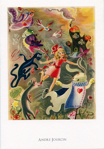 Alice in Wonderland Postcard-앙드레 조르신