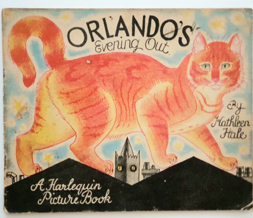 Orlando the Marmalade Cat: Evening Out-Kathleen Hale(1940년대 재판본(1941년 초판)) 석판화