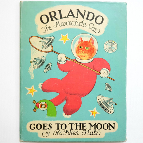 Orlando the Marmalade Cat: Orlando Goes to the Moon-Kathleen Hale(1968년 초판본, 사인본)
