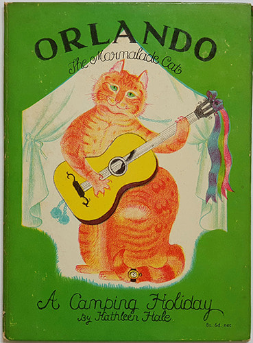 Orlando the Marmalade Cat: A Camping Holiday-Kathleen Hale(1959년 개정판(1938년 초판)) 석판화