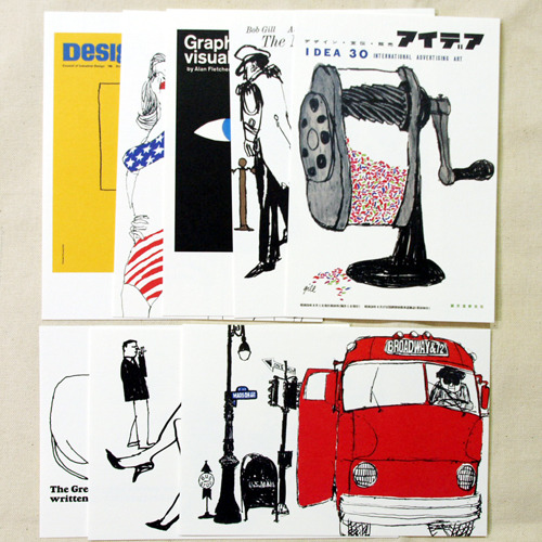 BOB GILL POSTCARDS-idea アイデア 30 international advertising art