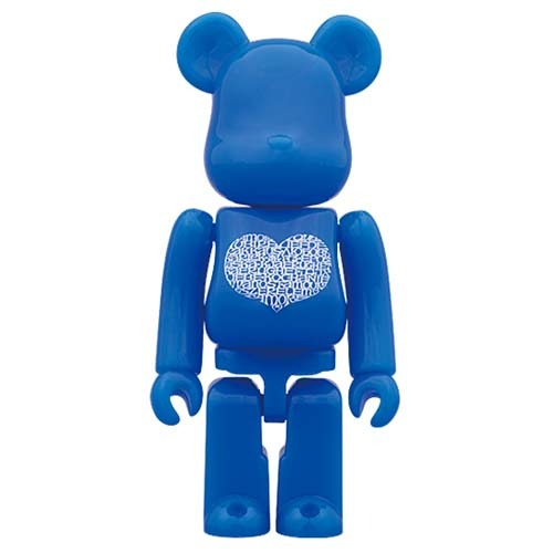 Be@rbrick 100% International Love Heart Azur(Alexander Girard)