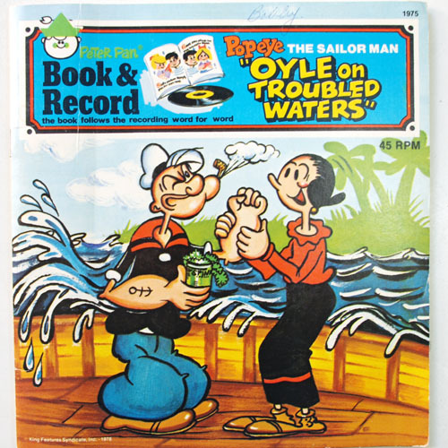 "Popeye the Sailor Man. ""Oyle on Troubled Waters"". Book and Record"